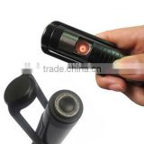 Windproof Rechargeable USB Cigarette Lighter with Electric Shaver