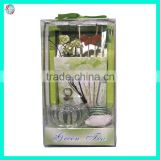 Green Tea Sola Paper Flower Glass Bottle Reed Diffuser