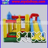 Commercial inflatable bouncer slide combo for kids, inflatable playground with ball pit