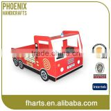 2015 Funny Design Single Layer Wonden Kids Truck Fire Engine Bed                                                                         Quality Choice