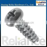 White Zinc Plated Phillips Pan Head Full Threaded Carbon Steel Machine Screw With Different Size Are Avaliable