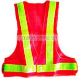 waterproof hi vis led reflective safety vest for road safety, reflecting vest with led light