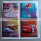 New product custom cartoon shape 3D pvc foam sticker for home decor/wall sticker/door decor