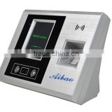 Hot Sale electronic face recognition time attendance system finger scanner P-100