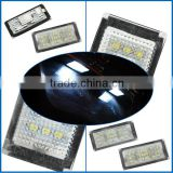 2pcs White LED License Plate Lamps Set 12-SMD Super Birght Bulbs for BMW E66 (Fits: for BMW)                                                                         Quality Choice