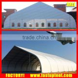 Aluminum frame big clear span high peak helicopter parking curve storage tent                                                                         Quality Choice