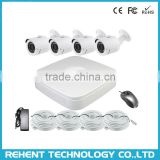 4Ch 1080P Bullet Outdoor Night Vision IP Camera POE NVR Kit Diy Surveillance Camera System Supplier