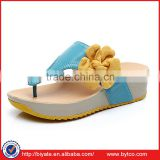 Women's Mid Height Wedge Platform Flip Flops Thong Sandals/Slippers with flower                                                                         Quality Choice