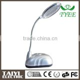 2014 new product Flexible Turning battery operated Reading LED Table Lamp