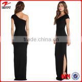 Women evening dress maxi dress sexy one shoulder dress woman wear