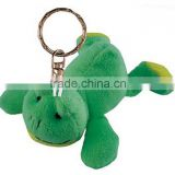 stuffed toy keychain & promotion plush toy & stuffed toy keyring/plush frog keychain toys