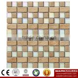 IXGC8-004 Electroplated Color Glass Mix Ceramic Mosaic Tiles for wall mosaic art decoration From Imark