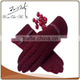 Wholesale fashion woolen gloves For Lady