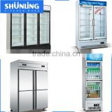 R134A Commercial vertical supermarket beer cooler display refrigerated showcase