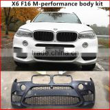 body kit for 2015-2016 X6 F16 upgrade to X6 M-sport car bumpers