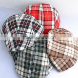 Fashion checkered children Peaked Cap