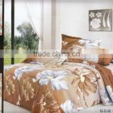100% polyester bedsheet set/flower printed/70gsm bedding set/pigment print/many designs/nantong factory