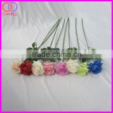 natural touch artificial single long stem blue flower rose for sale