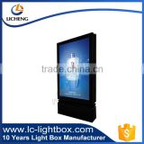 Newest product outdoor single side waterproof led frame with highlight led strip