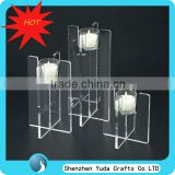 Acrylic Candle Holders Set of 3, Clear Tall Candle Display Rack, Wholesale Glass Tealight Holder