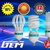 Zhejiang Factory Hot Sell Big Power Lotus Flower CFL 45W/65W/85W/105W Energy Saving Bulb With Cheap Price