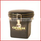 New design ceramic handmade coffee tin canister