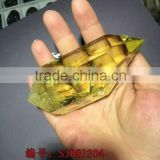 Wholesale clear citrine nature healing crystal point/wand for ornament