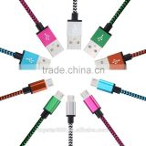Micro USB Cable ,High Speed Fabric Braided Jacket Micro USB 2.0 Sync Charge Data Cable for Android