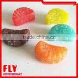 Colorful Fruit Orange Slice sugar coated soft candy