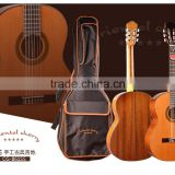 Handmade with cotton bag A+ grade solid cedar mahogany neck nylon string classical guitars