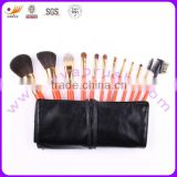 12pcs goat hair private label makeup tools with shinning color