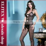 Wholesale Black Bowknot Seductive Sexy Woman Full Body Stocking Lingerie