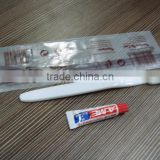 100% biodegradable packing bag for toothbrush and toothpaste,Food grade PLA branded bag for hotel