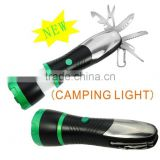 Emergency multi tool with high power camping light