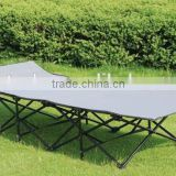 Portable outdoor folding steel tube frame garden bench