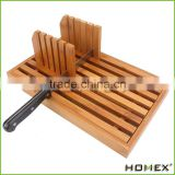 Bamboo home bread slicer cutter guide tray Homex BSCI/Factory
