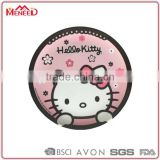 Food grade bulk buy plastic pink big face cat printing unbreakable melamine round children's plate