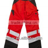 100% cotton drill knee pad multi pocket reflective work trousers EN471