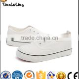 kid's fashion classic canvas casual white shoes for children wholesale
