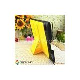 Yellow, Peach, Black Mini Notebook Case / Ipad Protective Cases With Bluetooth Keyboard For Ipad 3