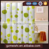 beautiful luxury fabric polyester fabric hotel bathroom printed shower curtain with matching window curtain