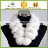 cheap new style fashion faux rabbit fur white scarf