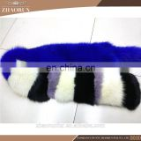 Multicolor fox fur scarf dyed thick fox fur scarf