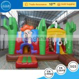 Attractive Inflatable jungle bouncy castle with slide ,inflable bouner/inflatable combo