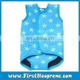 Kids Wetsuit In Blue Star Opens Flat Neoprene Baby Carry Swim Wraps