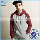 Yihao 2015 Men Hoodies Fashion Cotton Sport Jacket Brand Design Hot Sale Raglan Pullover Hooded Casual Outdoor Sweatshirts