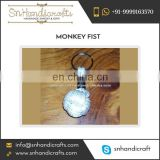 Unmatched Quality Flawless Finish Monkey Fist Nautical Rope Keychain Available for Bulk Buyers