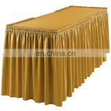 hawaiian satin table skirt wedding table skirting designs