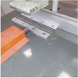 Fully automatic aluminum alloy T shaped decorative strip edge strip cutting machine