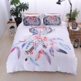 White Dream catcher Bedding Set king Bohemian Printed Bedclothes King Colorful Feathers Duvet Cover set